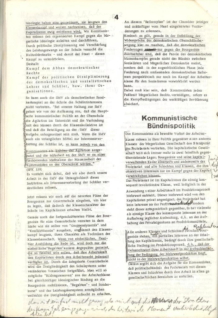 Programmatische Erklärung der KSF,Göttingen, 12.12.1971, Seite 4