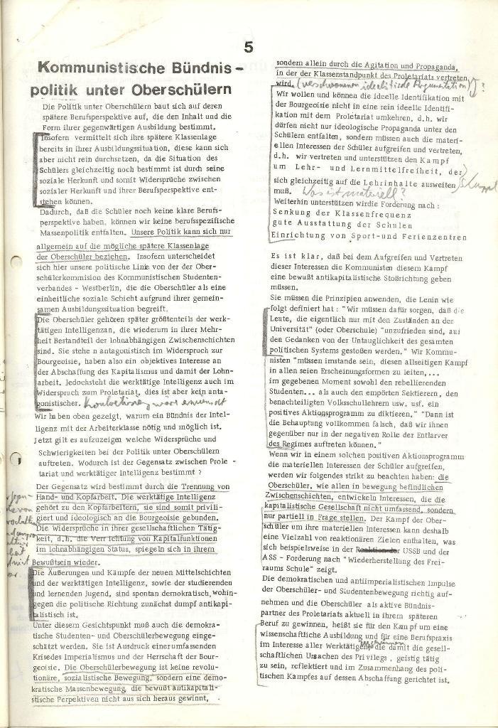 Programmatische Erklärung der KSF,Göttingen, 12.12.1971, Seite 5