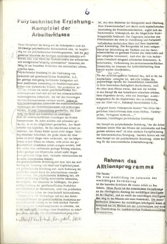 Programmatische Erklärung der KSF,Göttingen, 12.12.1971, Seite 6