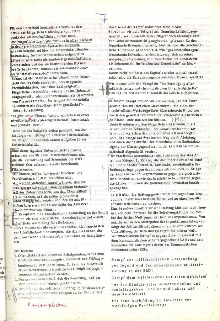 Programmatische Erklärung der KSF,Göttingen, 12.12.1971, Seite 7