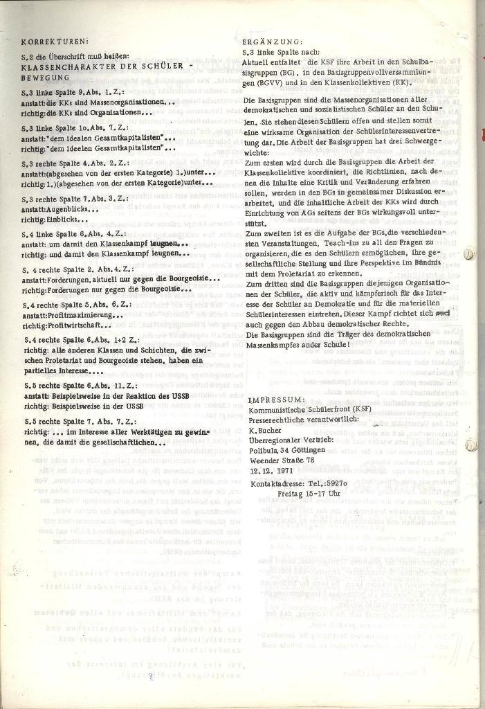 Programmatische Erklärung der KSF,Göttingen, 12.12.1971, Seite 8