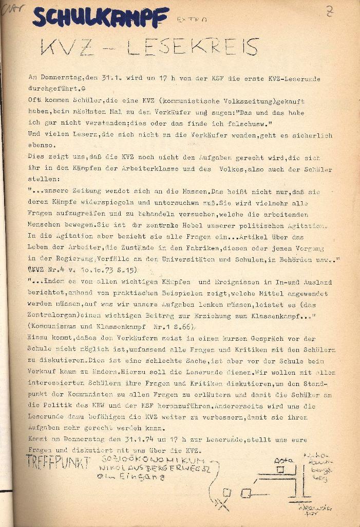 Schulkampf _ Organ der KSF, Göttingen, Extra, KVZ_Lesekreis [1974]