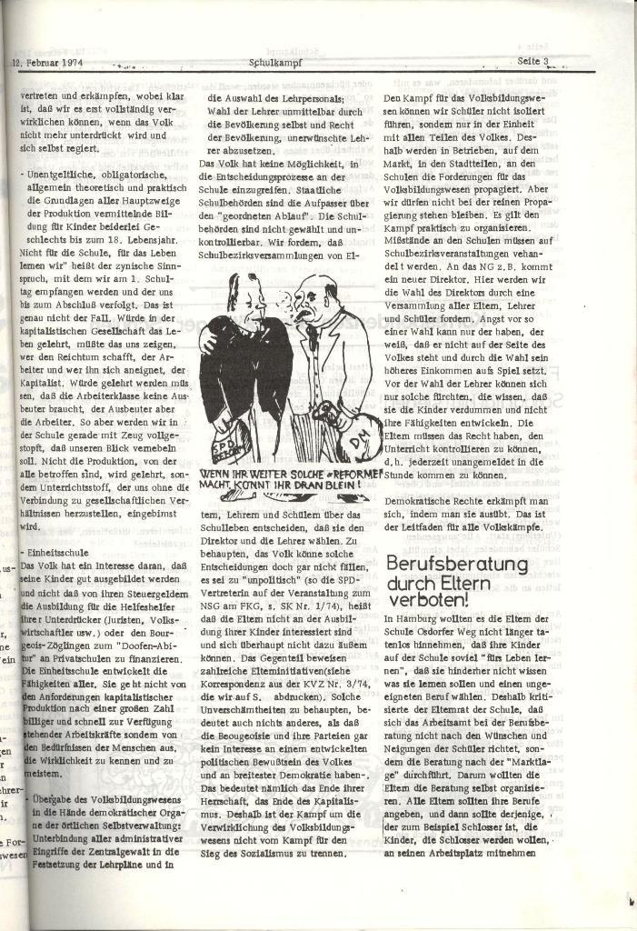 Schulkampf _ Organ der KSF, Göttingen, Nr. 2, 12.2.74, Seite 3
