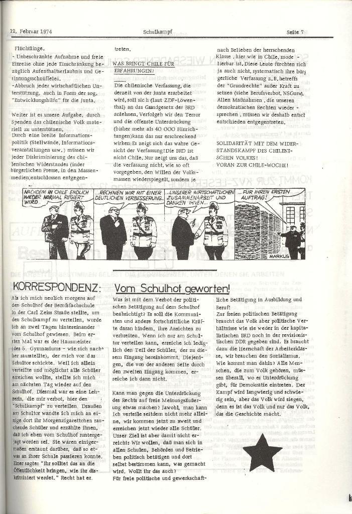Schulkampf _ Organ der KSF, Göttingen, Nr. 2, 12.2.74, Seite 7