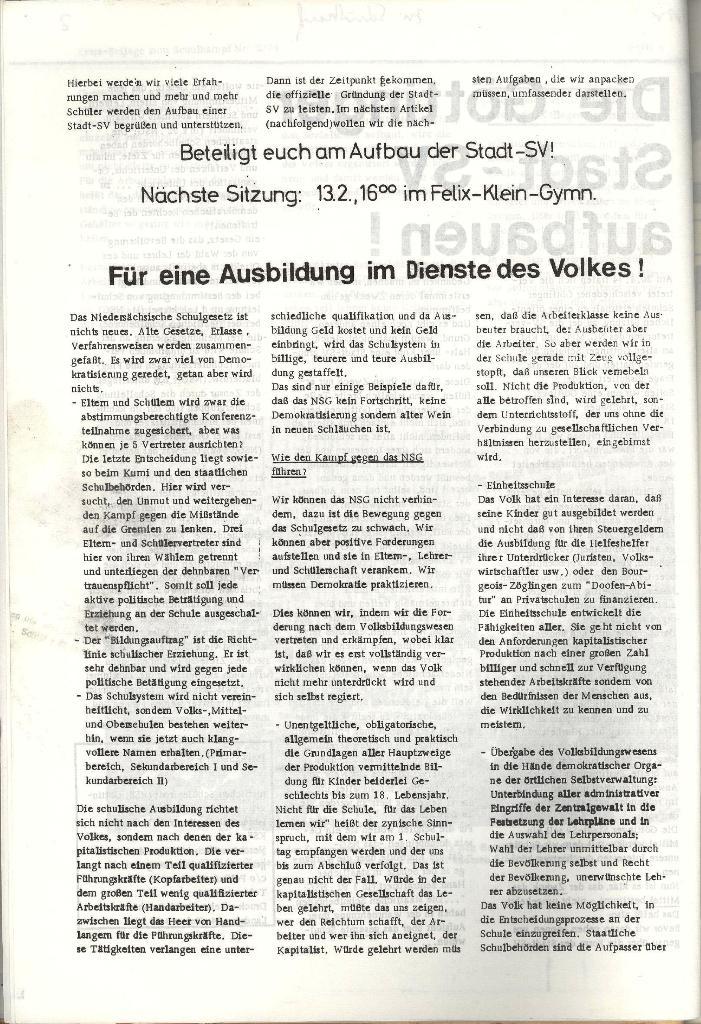 Schulkampf _ Organ der KSF, Göttingen, Nr. 2, 12.2.74, Beilage, Seite 6