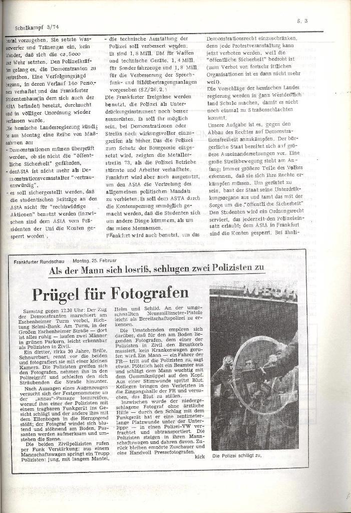 Schulkampf _ Organ der KSF, Göttingen, Nr. 3, 28.2.74, Seite 3