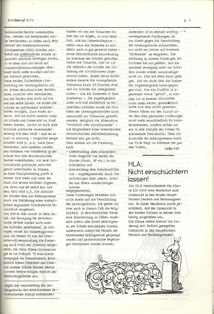 Schulkampf _ Organ der KSF, Göttingen, Nr. 3, 28.2.74, Seite 7