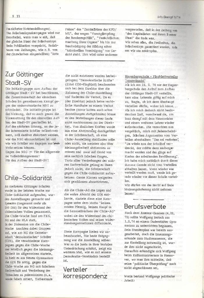 Schulkampf _ Organ der KSF, Göttingen, Nr. 3, 28.2.74, Seite 11