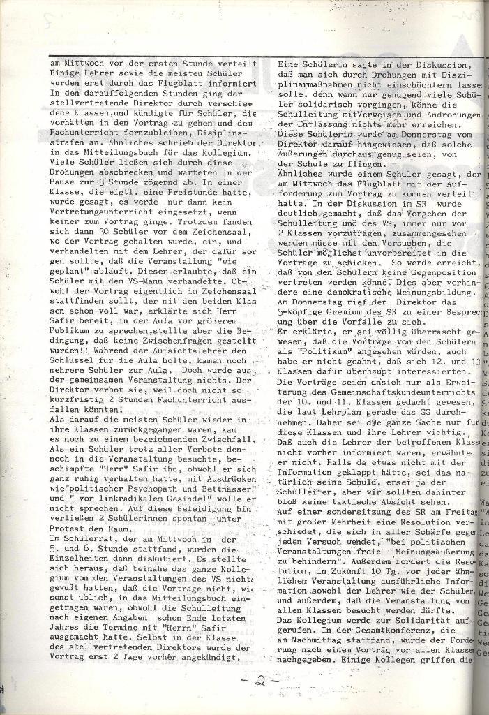 Schulkampf _ Organ der KSF, Göttingen, Extra, 11.3.74, Seite 2