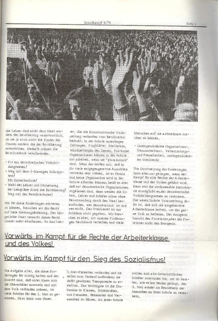 Schulkampf _ Organ der KSF, Göttingen, Nr. 4, 24.4.74, Seite 3