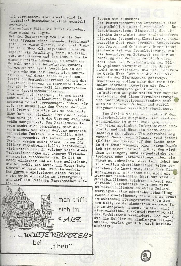 Wolfenbüttler Schülerpresse, Nr. 1, 1.10.1972, Seite 3