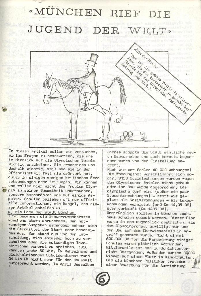Wolfenbüttler Schülerpresse, Nr. 1, 1.10.1972, Seite 6