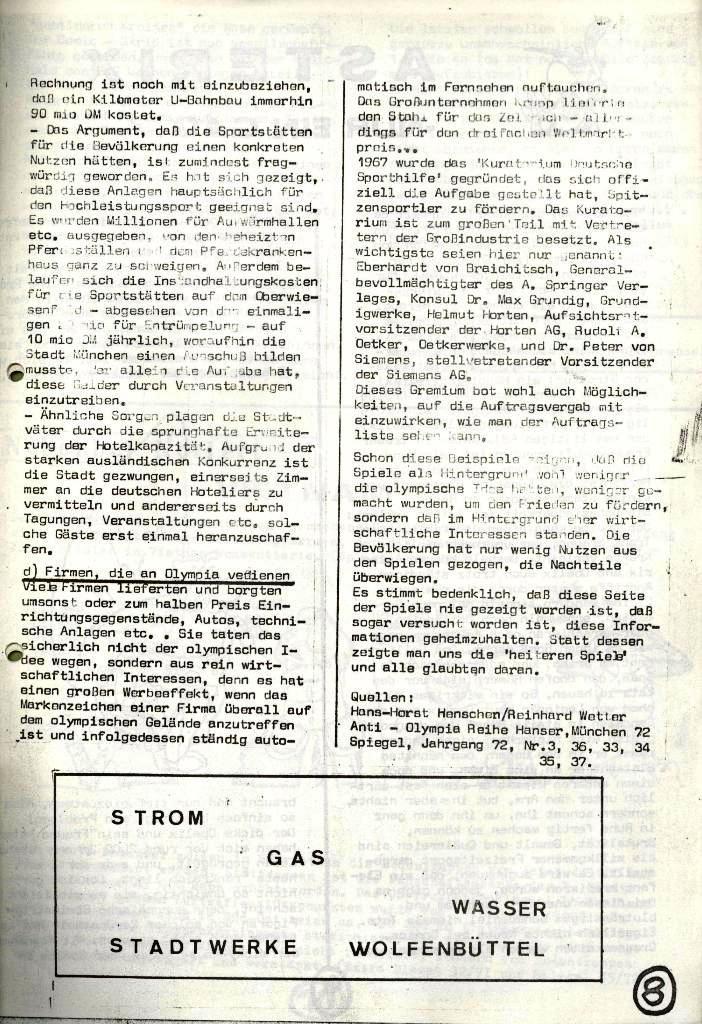 Wolfenbüttler Schülerpresse, Nr. 1, 1.10.1972, Seite 8