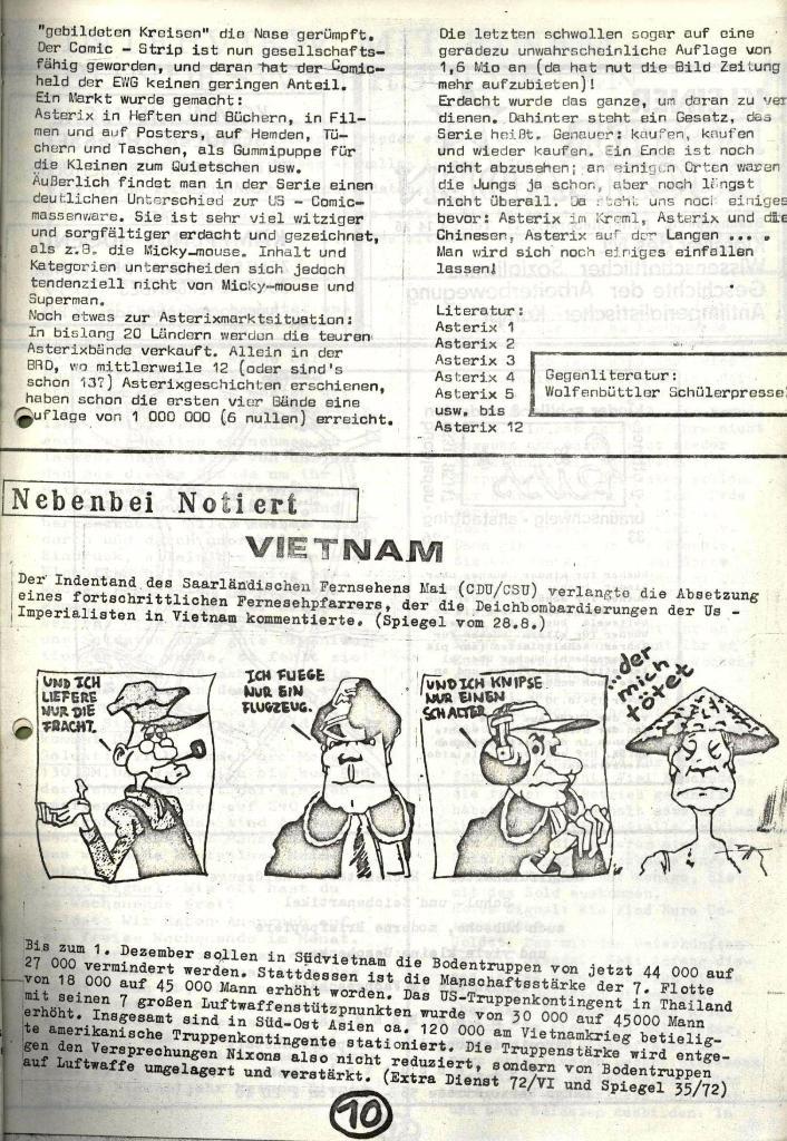 Wolfenbüttler Schülerpresse, Nr. 1, 1.10.1972, Seite 10