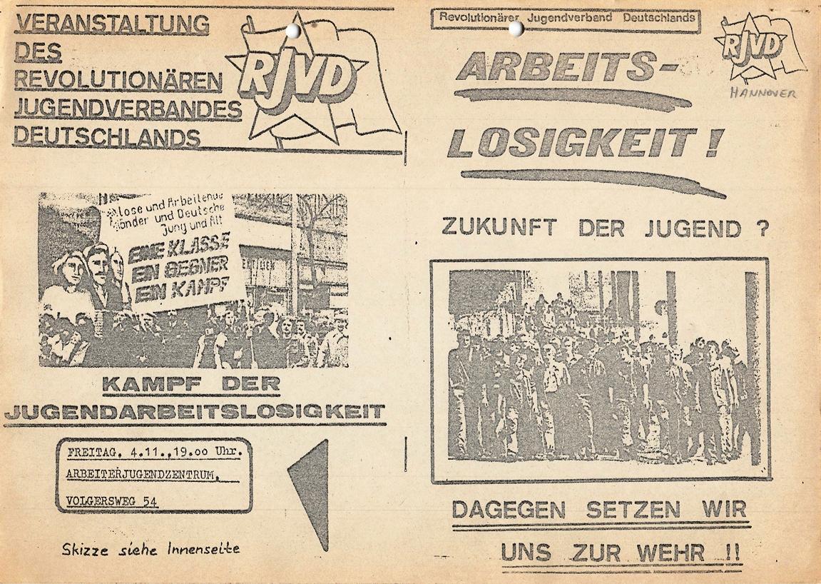 Hannover_RJVD_1977_Arbeitslosigkeit_01
