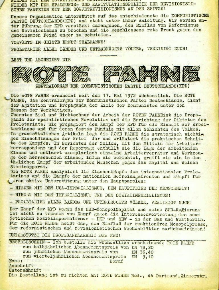 """Flugblatt der Kommunistischen Arbeiter und Lehrlinge Schaumburg/Minden (KAL): """"Aktionsprogramm der KAL"""", Seite 3 (November 1972)"""