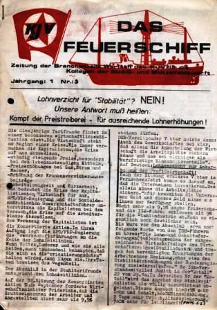 Das Feuerschiff _ Zeitung der Branchenzelle Werften des KJV für die Kollegen der SUAG_ und Mützelfeldtwerft, Jg. 1, Nr. 3