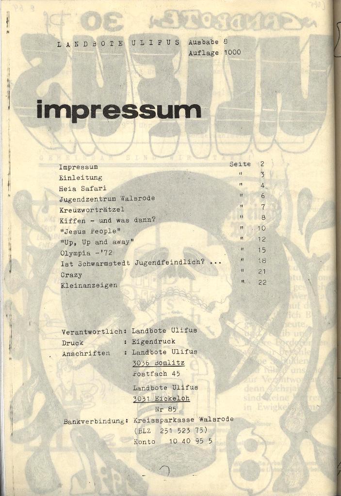 Landbote Ulifus 8/72