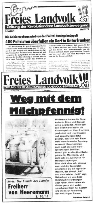 Freies Landvolk - Zeitung der Revolutionären Landvolkbewegung