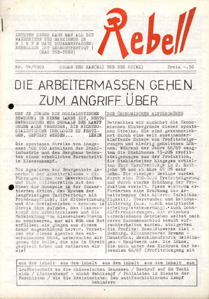 Rebell, Nr. 14, Oktober 1969, S. 1