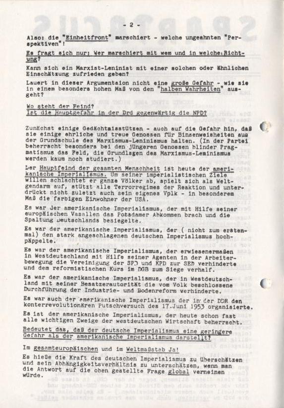 Spartacus_Brief, Nr. 1, November 1966, Seite 2