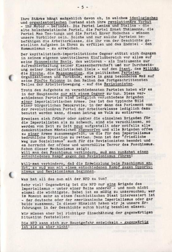 Spartacus_Brief, Nr. 1, November 1966, Seite 5