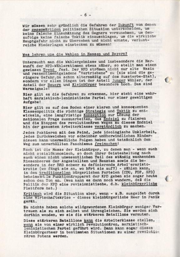 Spartacus_Brief, Nr. 1, November 1966, Seite 6