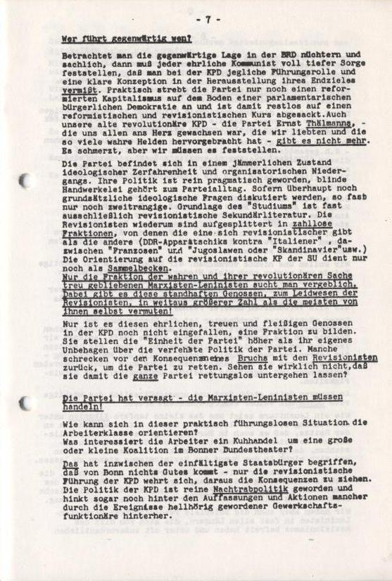 Spartacus_Brief, Nr. 1, November 1966, Seite 7