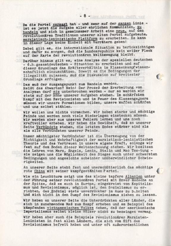 Spartacus_Brief, Nr. 1, November 1966, Seite 8