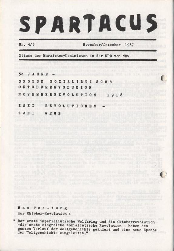 Spartacus_Brief, 4/5, Nov./Dez. 1967, Seite 1