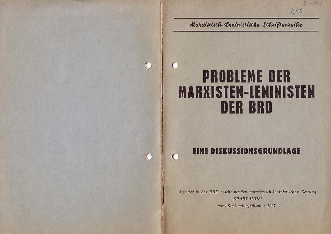 MLPÖ: Spartakusbrief, Sept./Okt.1967, Scan 1