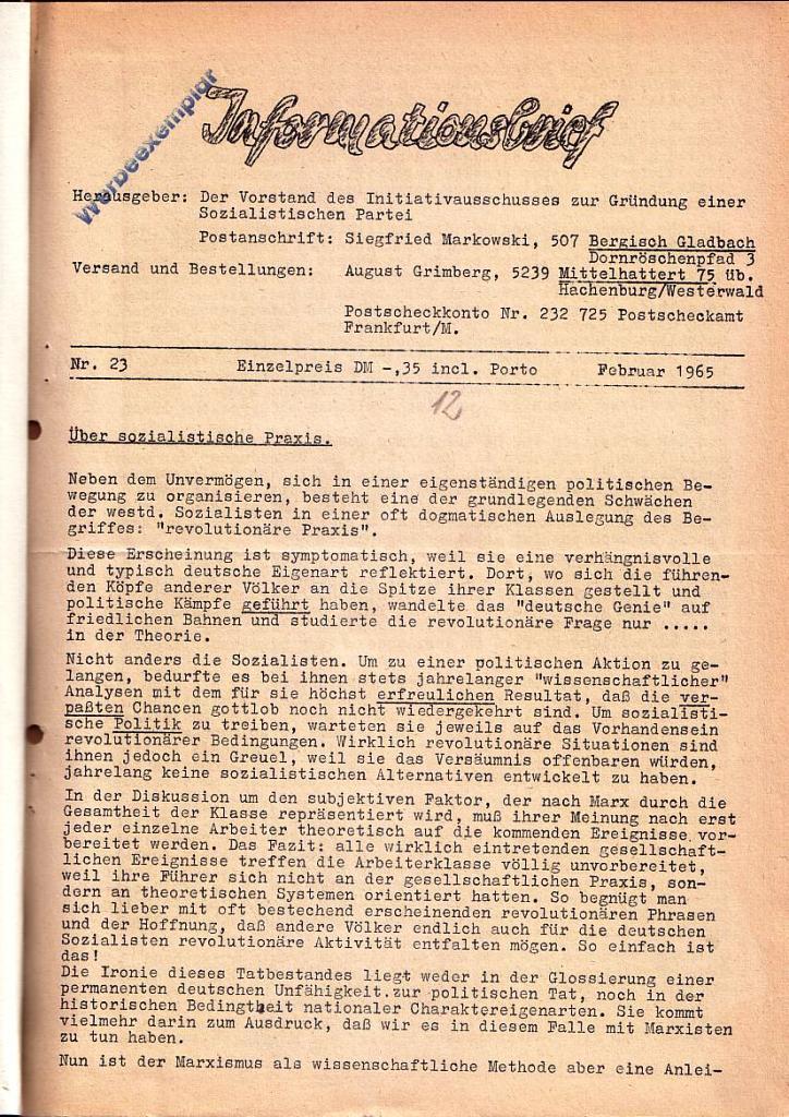 Informationsbrief_1965_23_01