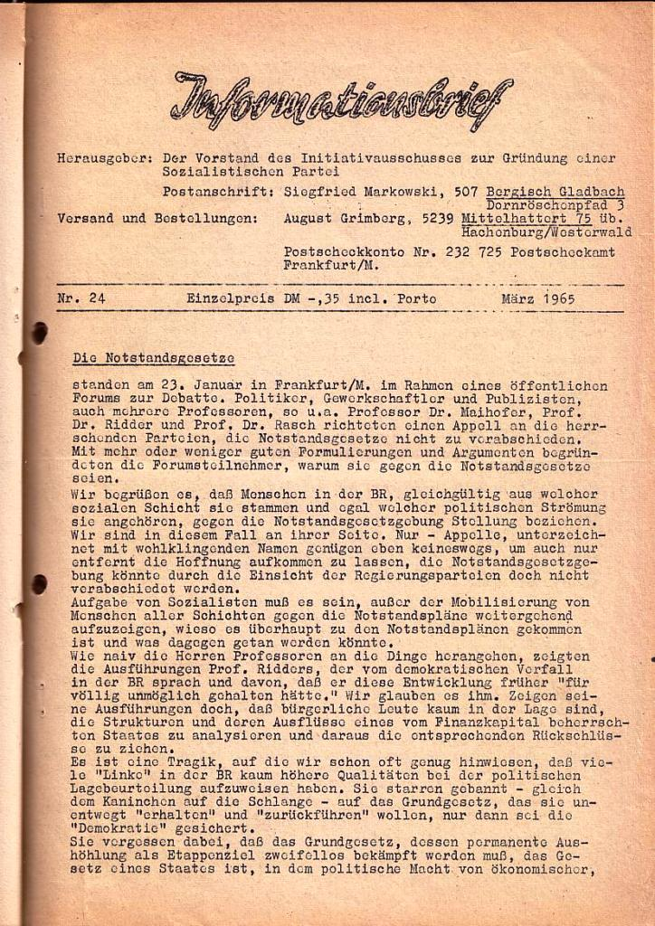 Informationsbrief_1965_24_01