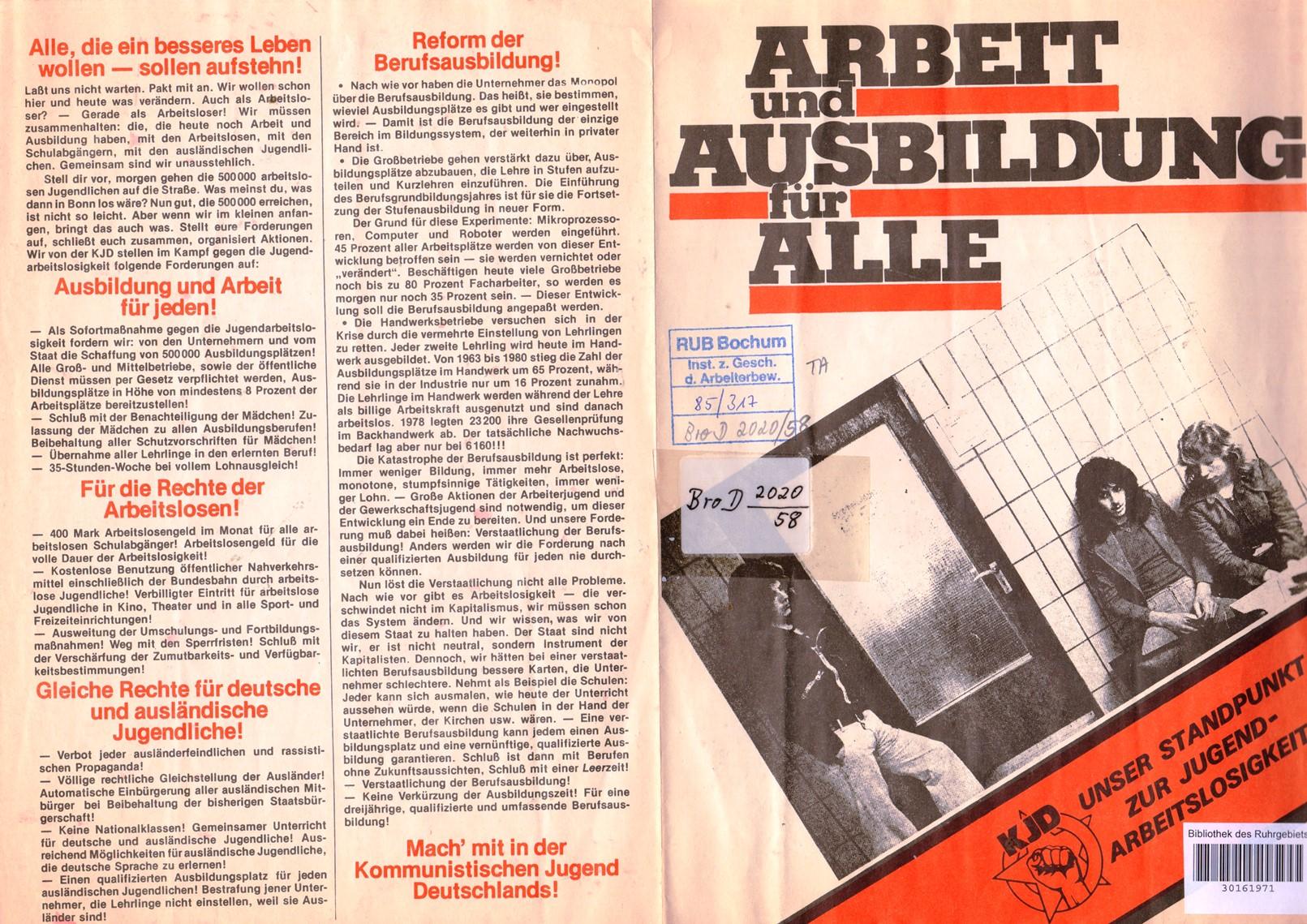 KJD_1982_Standpunkt_zur_Jugendarbeitslosigkeit_01