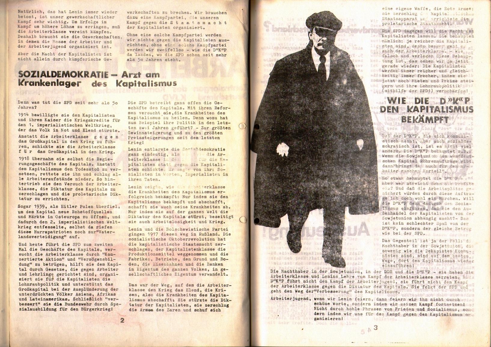 KDAJ, 1. Jg., April 1970, Nr. 1, Seite 2+3