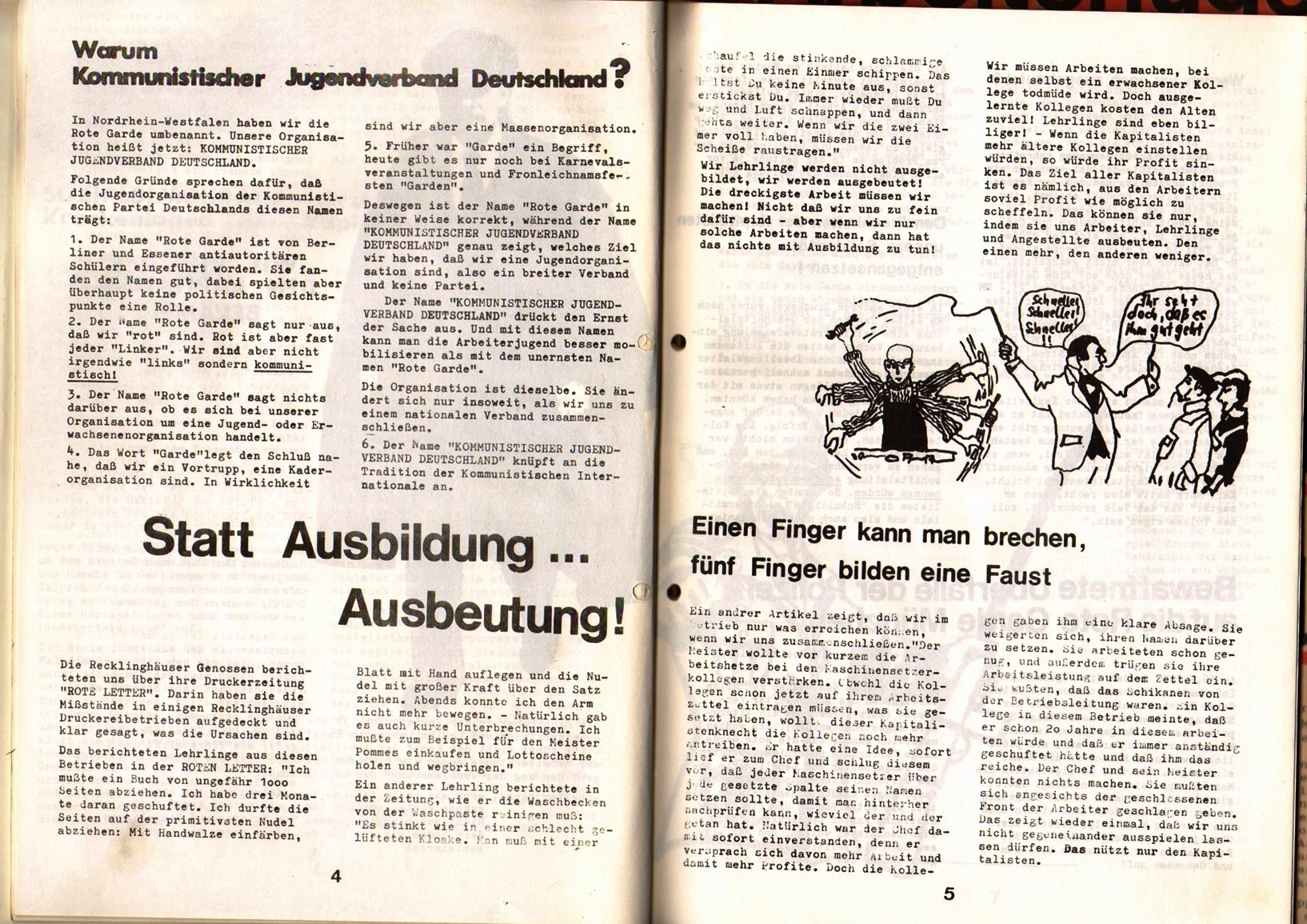 KDAJ, 1. Jg., April 1970, Nr. 1, Seite 4+5