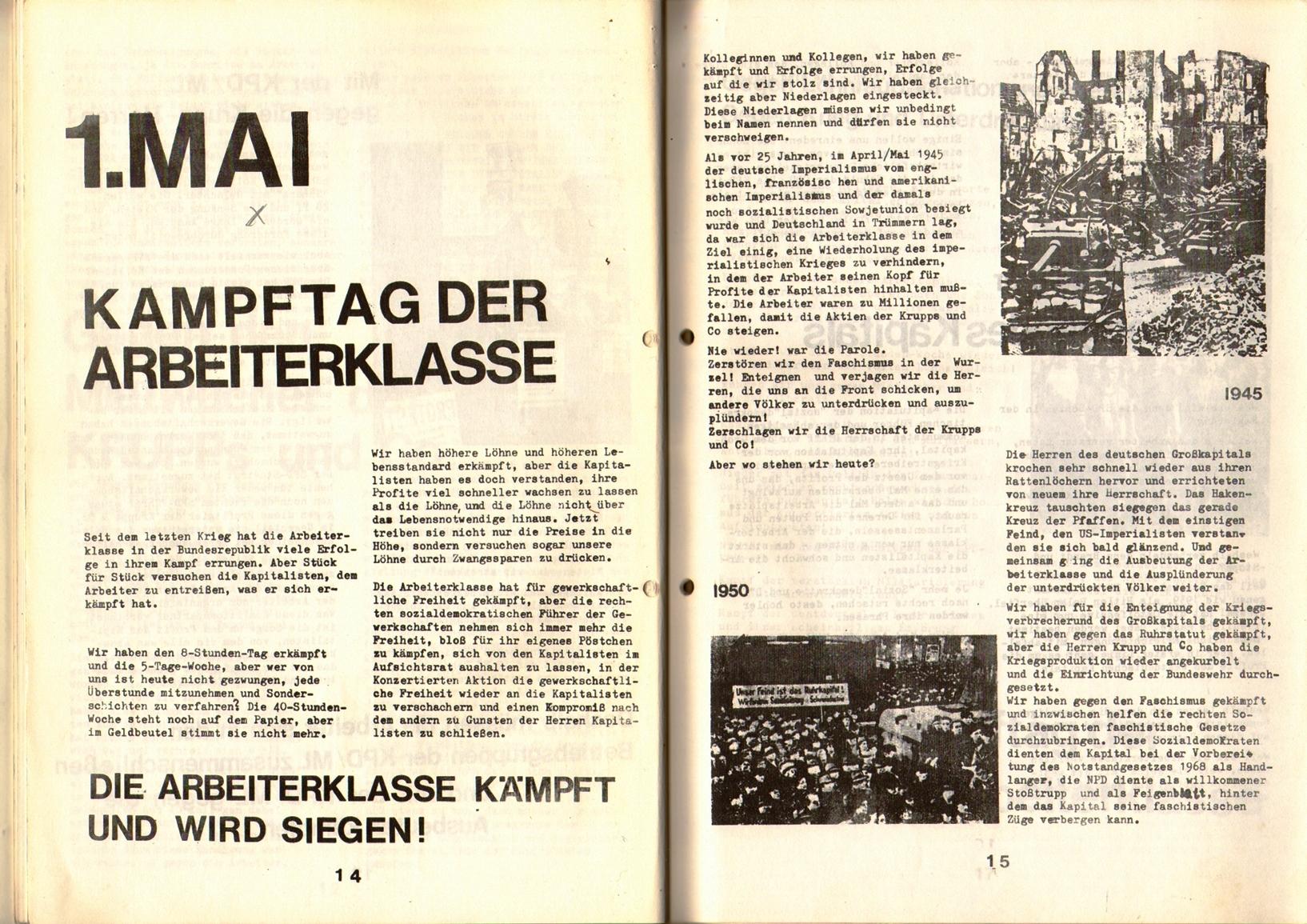 KDAJ, 1. Jg., April 1970, Nr. 1, Seite 14+15