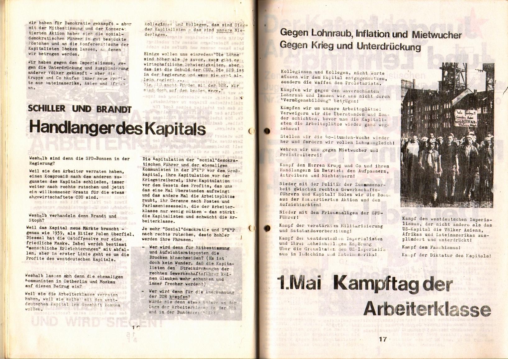 KDAJ, 1. Jg., April 1970, Nr. 1, Seite 16+17