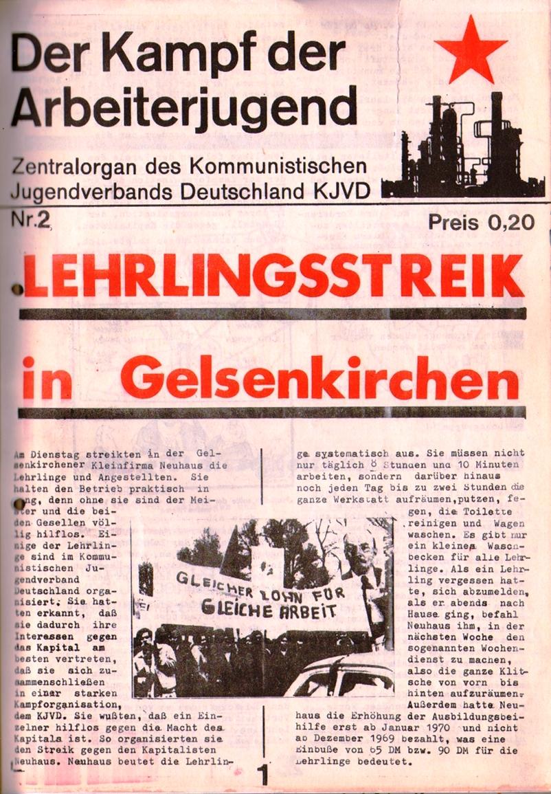 KDAJ, 1. Jg., 1970, Nr. 2, Seite 1
