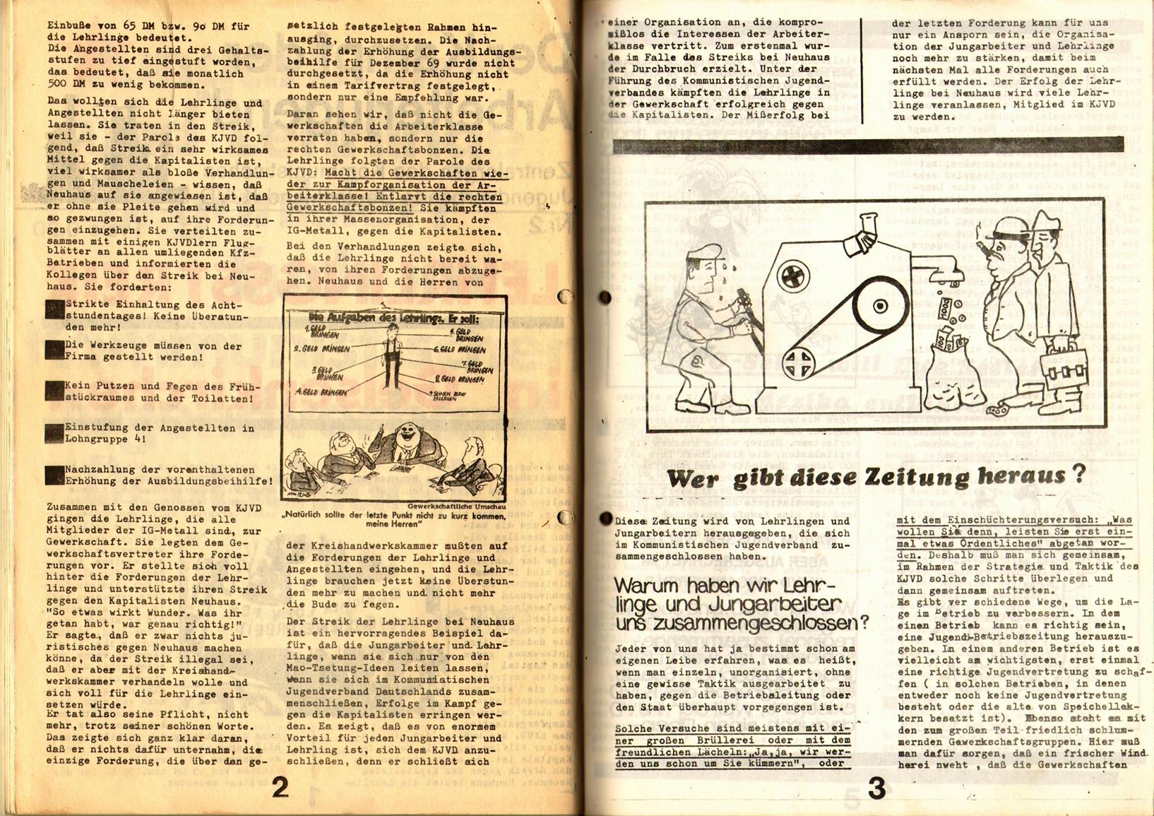 KDAJ, 1. Jg., 1970, Nr. 2, Seite 2+3