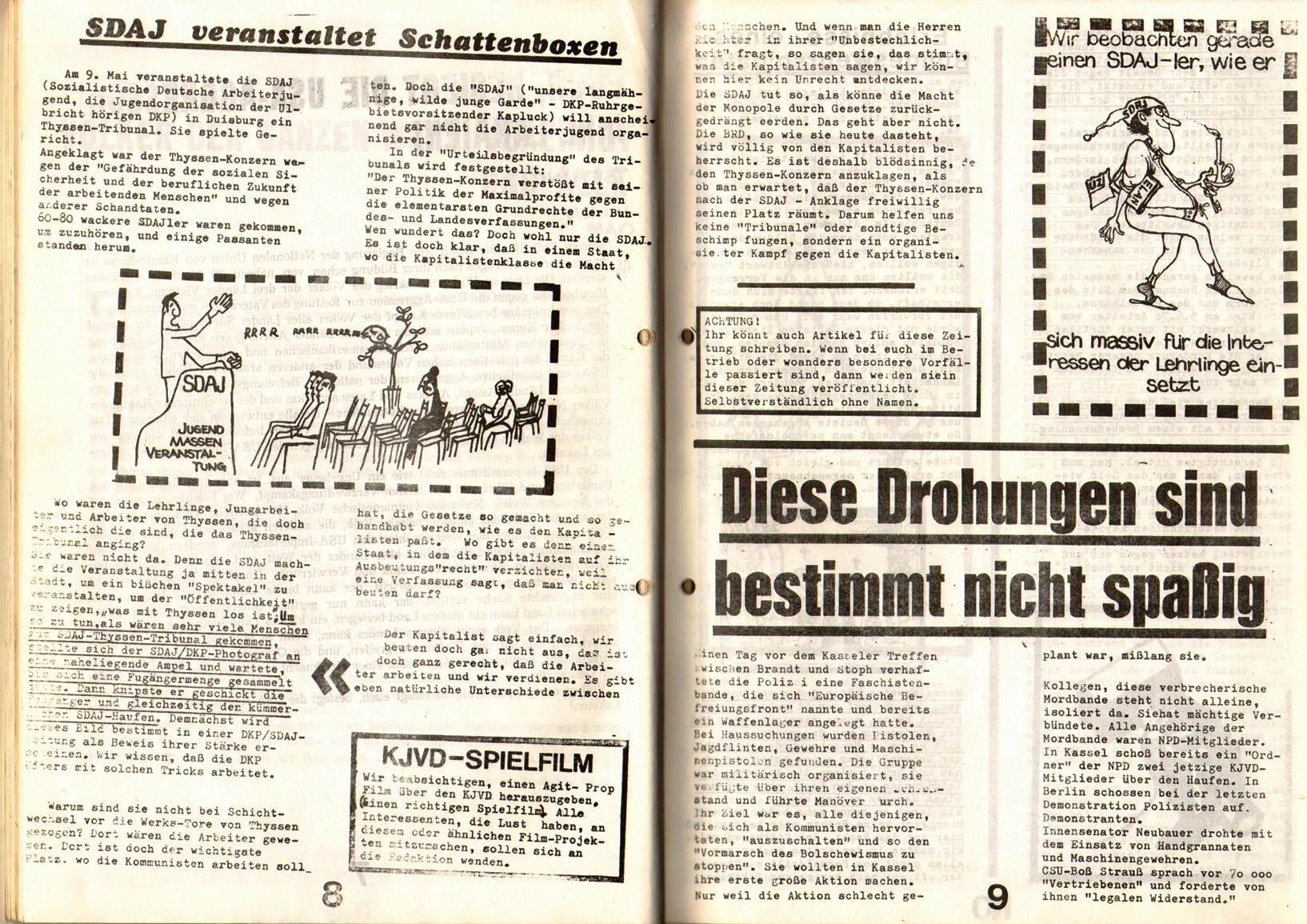 KDAJ, 1. Jg., 1970, Nr. 2, Seite 8+9