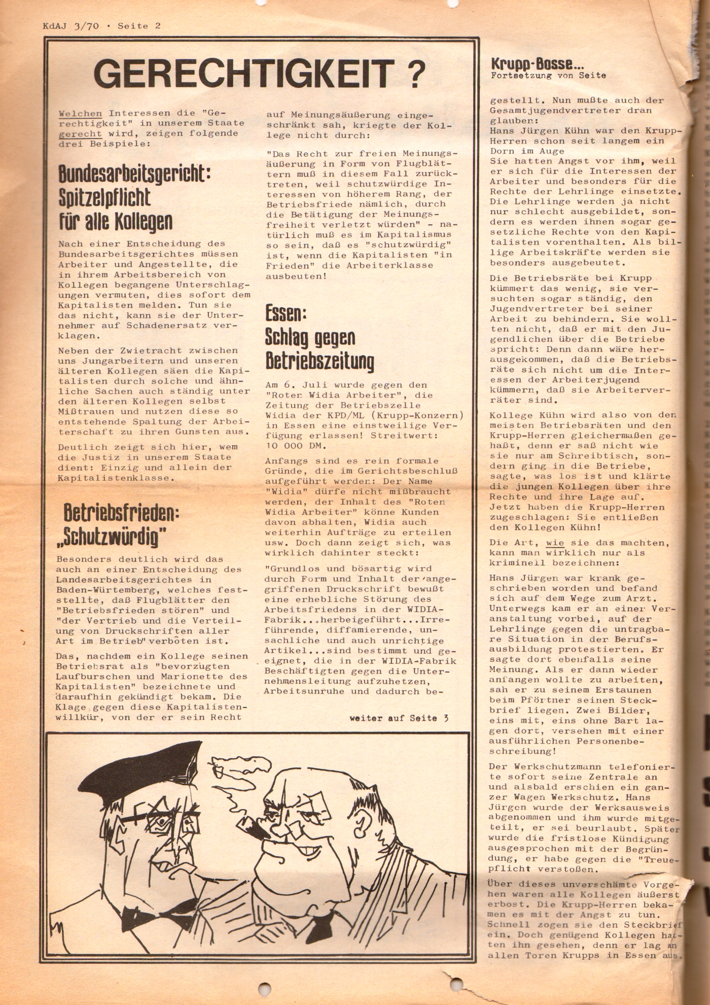 KDAJ, 1. Jg., August 1970, Nr. 3, Seite 2