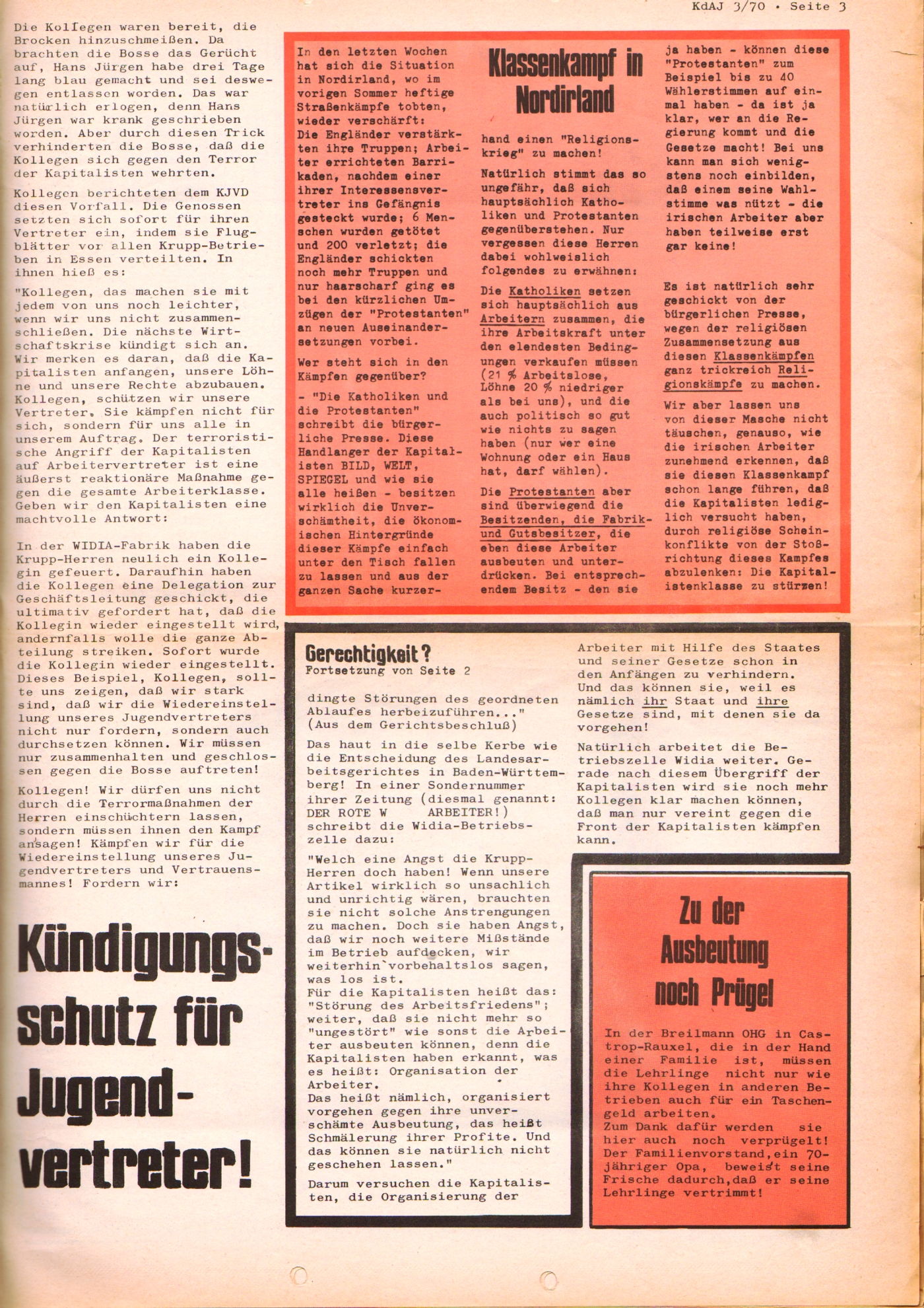KDAJ, 1. Jg., August 1970, Nr. 3, Seite 3