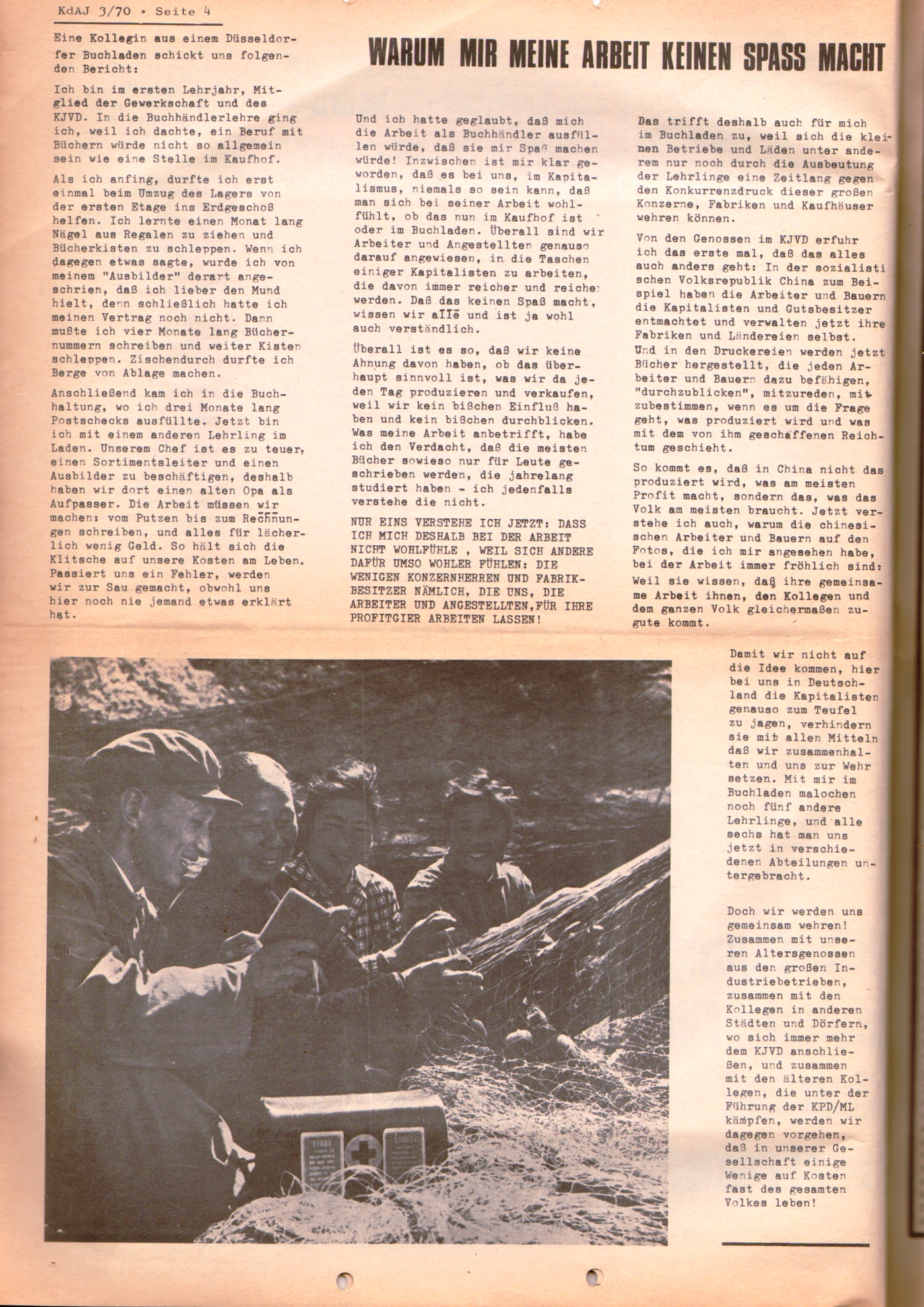 KDAJ, 1. Jg., August 1970, Nr. 3, Seite 4