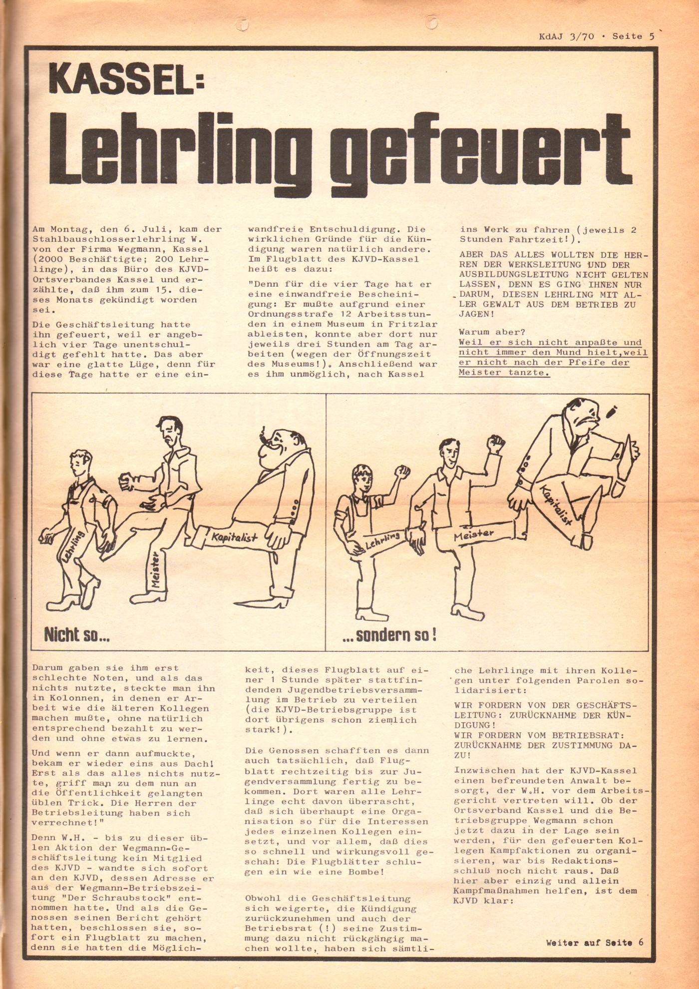 KDAJ, 1. Jg., August 1970, Nr. 3, Seite 5