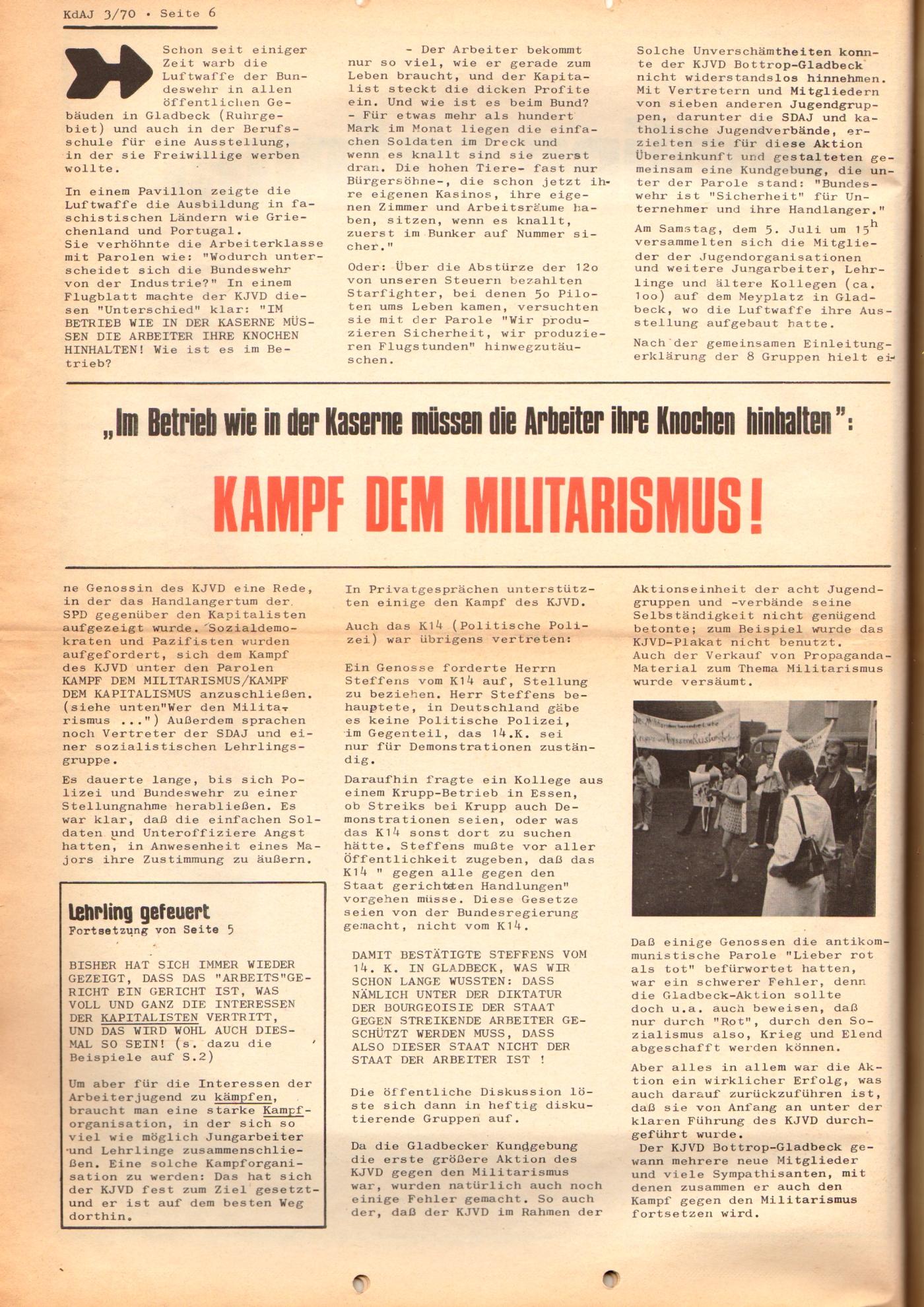 KDAJ, 1. Jg., August 1970, Nr. 3, Seite 6