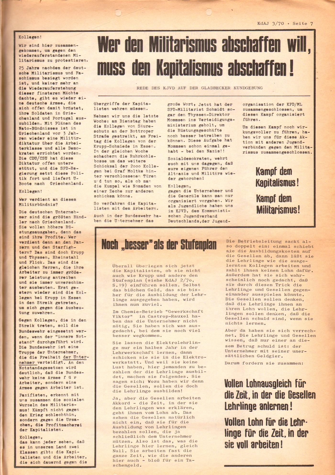 KDAJ, 1. Jg., August 1970, Nr. 3, Seite 7