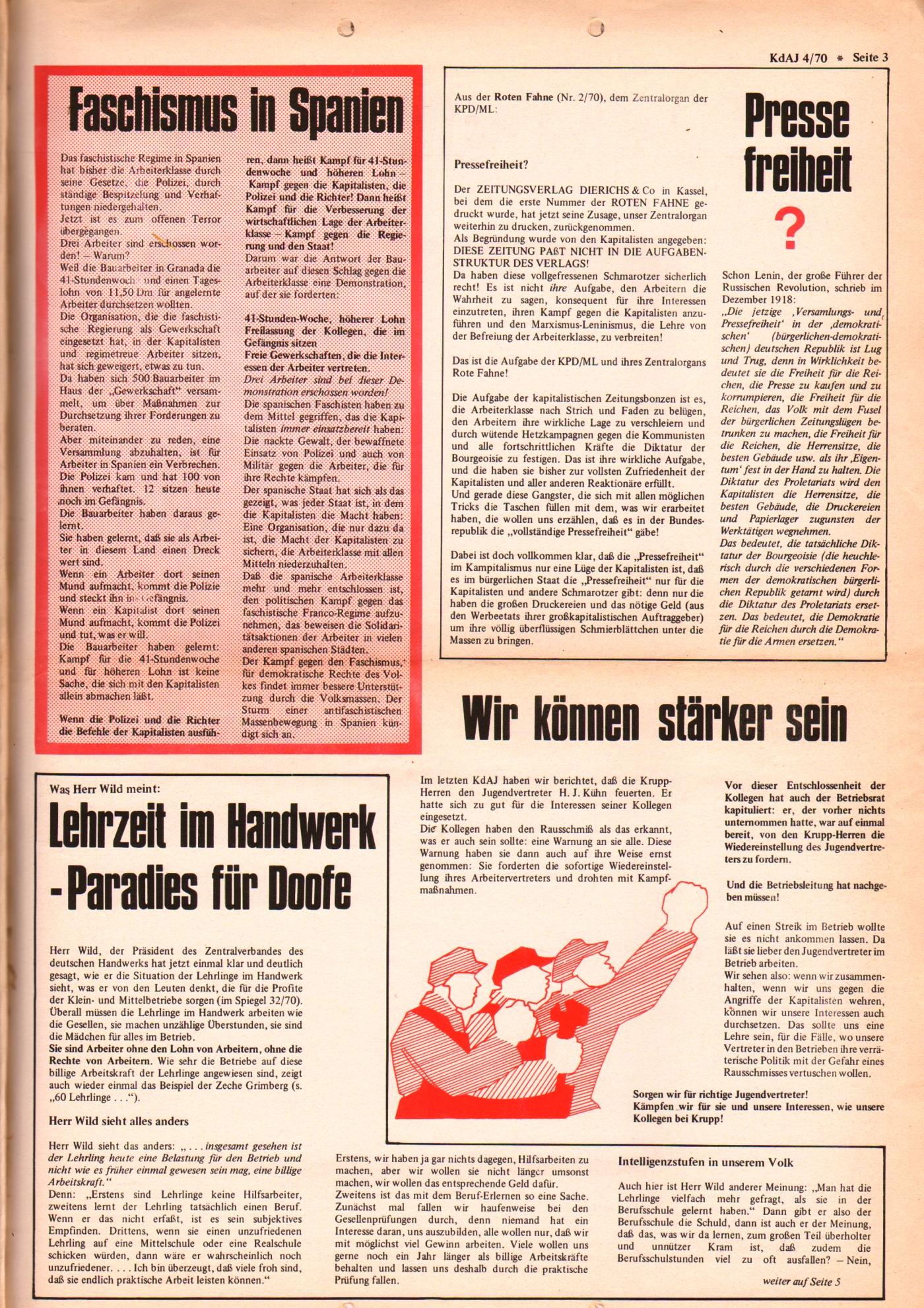 KDAJ, 1. Jg., September 1970, Nr. 4, Seite 3