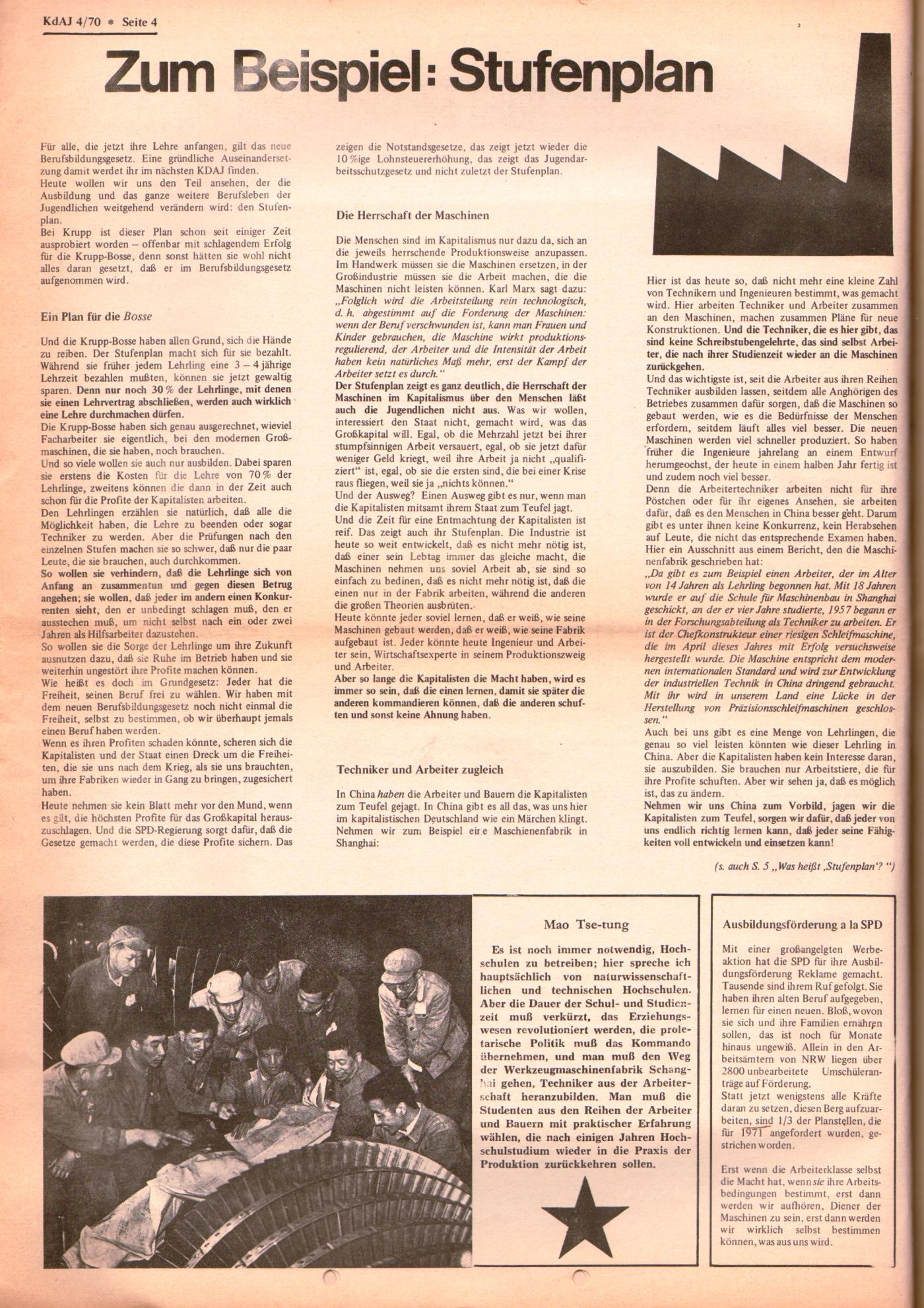 KDAJ, 1. Jg., September 1970, Nr. 4, Seite 4