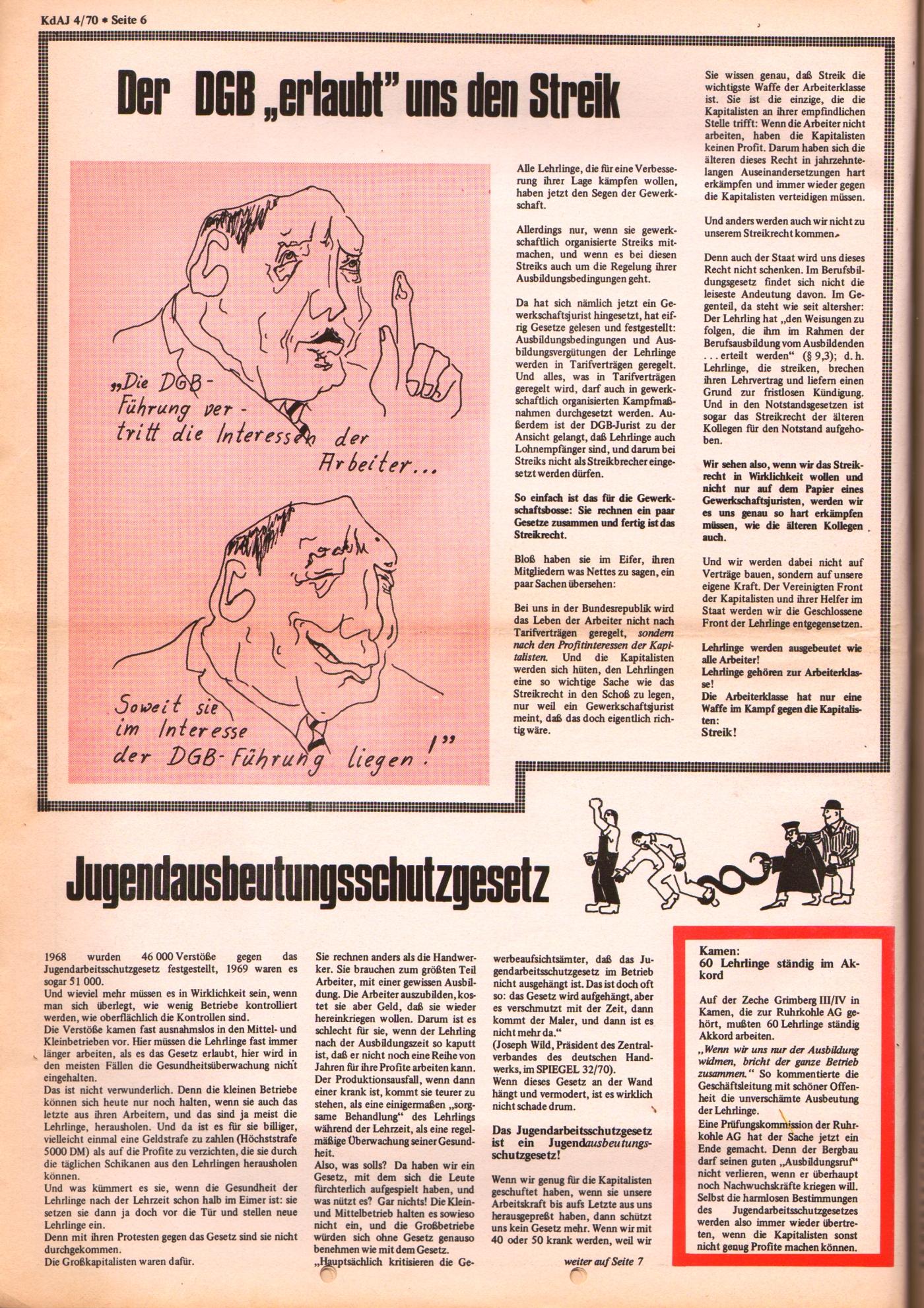 KDAJ, 1. Jg., September 1970, Nr. 4, Seite 6